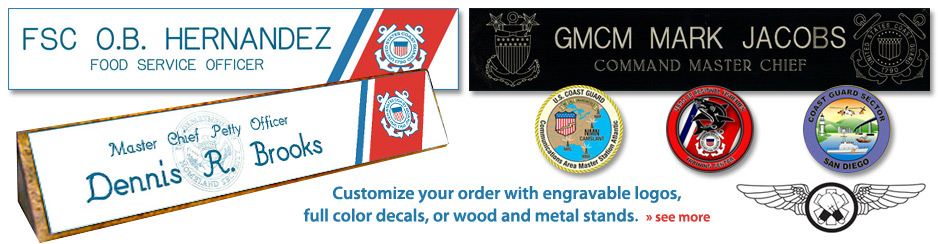 Customize your order with engravable logos, full color decals, or wood and metal stands.